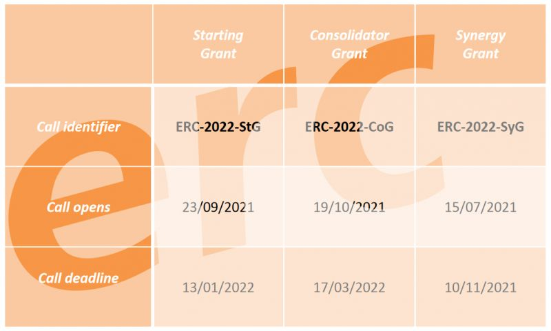 **reloaded** Bring an ERC Starting/Consolidated Grant to success (YIN internal)