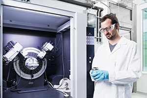 Scientist of the research group electrochemistry for batteries (picture: Amadeus Bramsiepe, KIT)