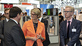Federal Minister Anja Karliczek at the stand of the KIT at the Hannover Messe 2018 (photo: supertrampmedia/KIT)