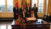 Signing of the cooperation agreement between KIT and Jiangsu Industrial Technology Research Institute (Photo: INTL/KIT)