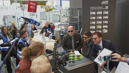 Presse Preview auf der Hannover Messe 2017 (Foto: Andreas Drollinger, KIT)