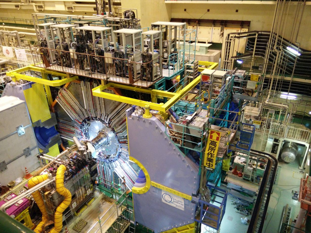 The new particle accelerator experiment Belle II searches for the origin of the universe. (Photo: Felix Metzner, KIT)
