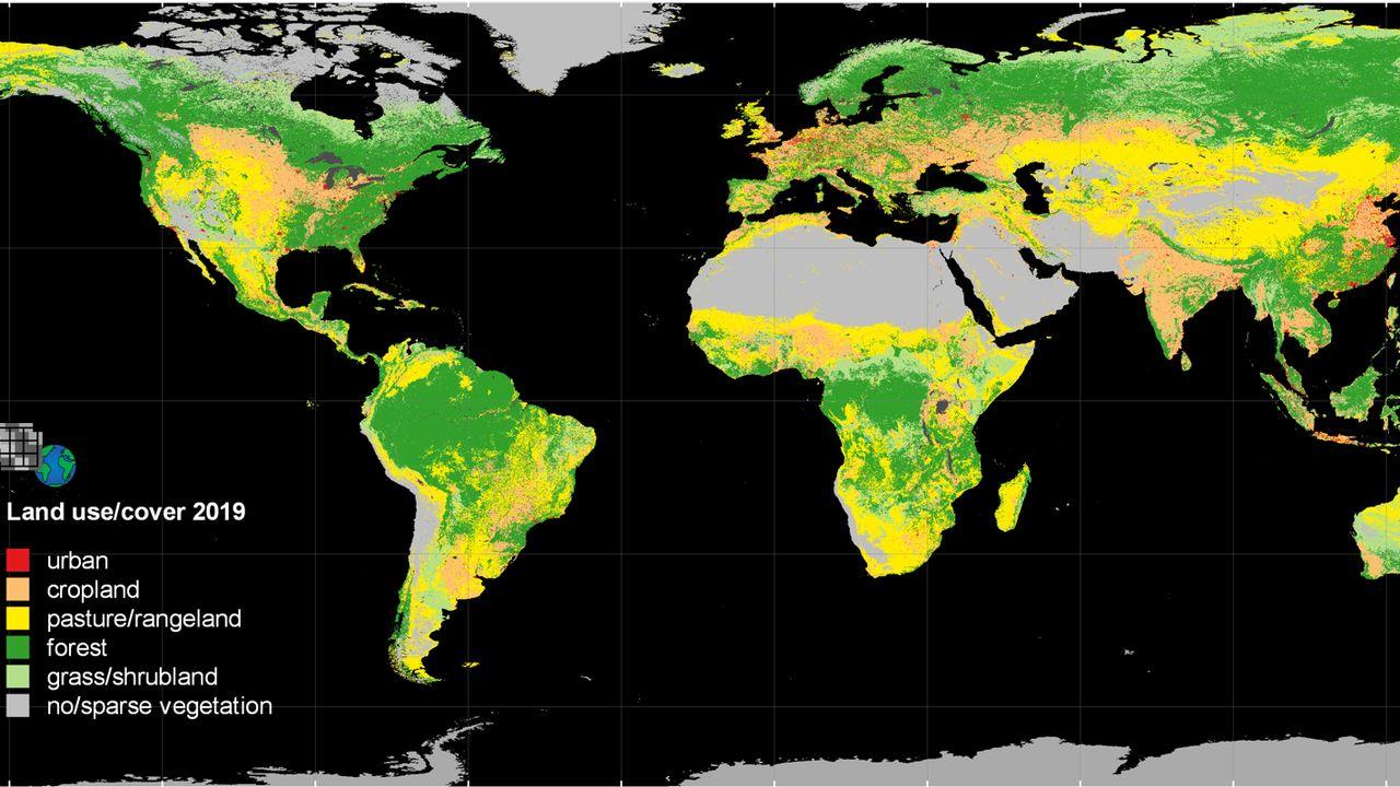 HILDA + mapa de uso da terra para 2019 (Foto: Karina Winkler, KIT)